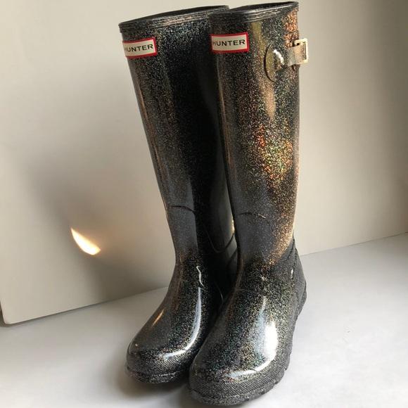 New Hunter Tall Glitter Rain Boots